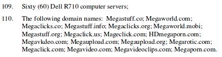 Dominios Incautados a Megaupload.