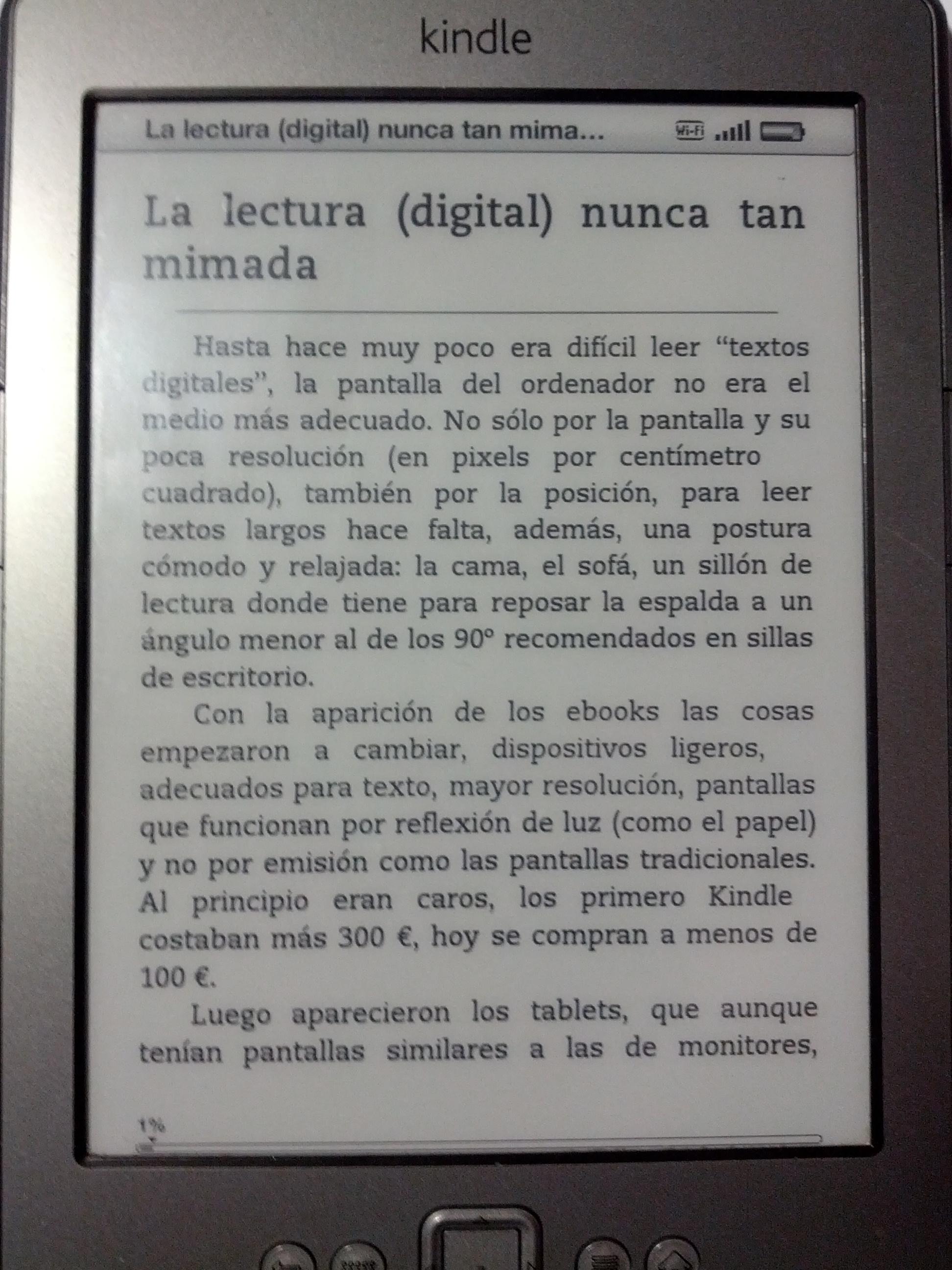 La lectura (digital) nunca tan mimada | Ricardo Galli, de