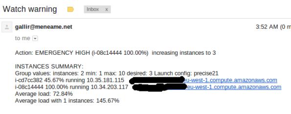 100% de CPU, incrementa una instancia
