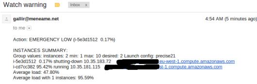0% de CPU, mata la instancia